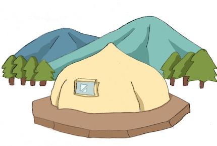 上勝開拓団BASE CAMPは山の中にある2棟のグランピング