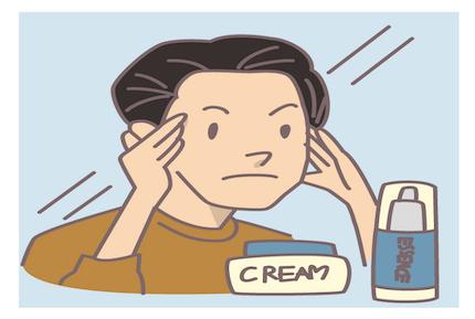 男性は肌のケアを積極的にしている?